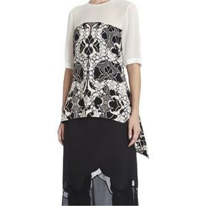 BCBGMAXAZRIA Runway The Esen Silk Tunic